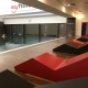 Daybed fitness hotel coated foam silicone poolfurniture