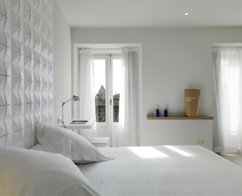Coated foam, Hotel, Room, Acoustic solution, Wallstix