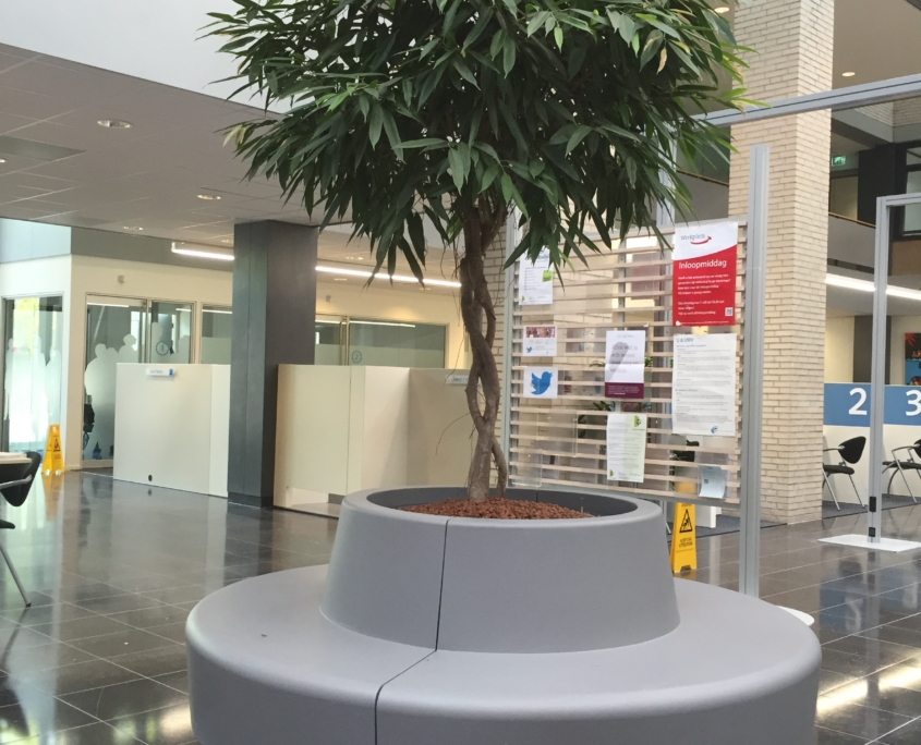 Coated foam, office environment,Public space, publiekeruimte, inrichting organisch element, boombank, gecoat schuim, gecoatschuim, furniture, meubels