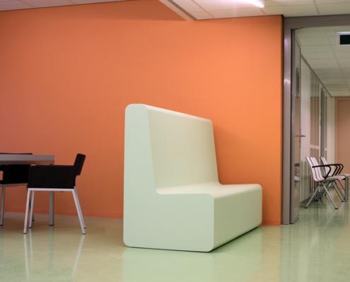 Coated foam, hospital, Health care, furniture, easy to clean, softseating