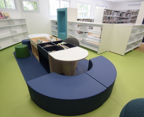 Silicon coated foam furniture library
