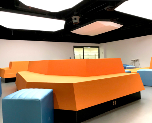 Coated foam, education, furniture, easy to clean, softseating
